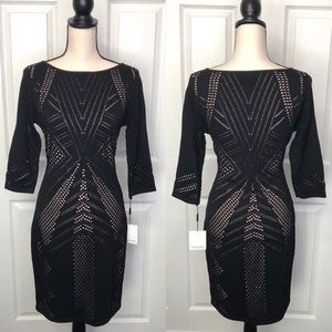 Calvin Klein Perforated Knit Dress